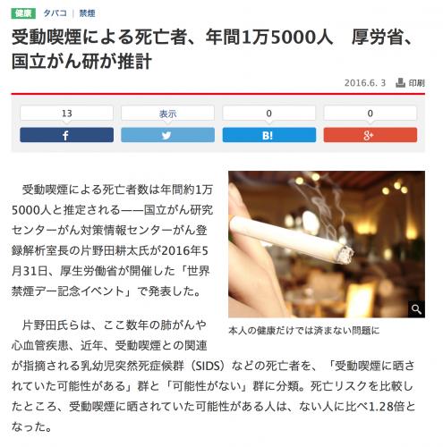 受動喫煙15000人